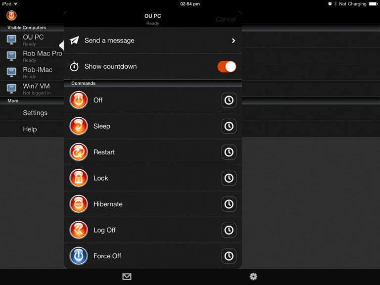 Off Remote – wyłącz, uśpij, zrestartuj, zablokuj swojego Mac'a z iOS z użyciem sieci wifi.