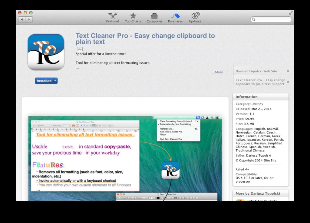 Text Cleaner Pro – skopiuj tekst, oraz automatycznie usuń niedoskonałości.