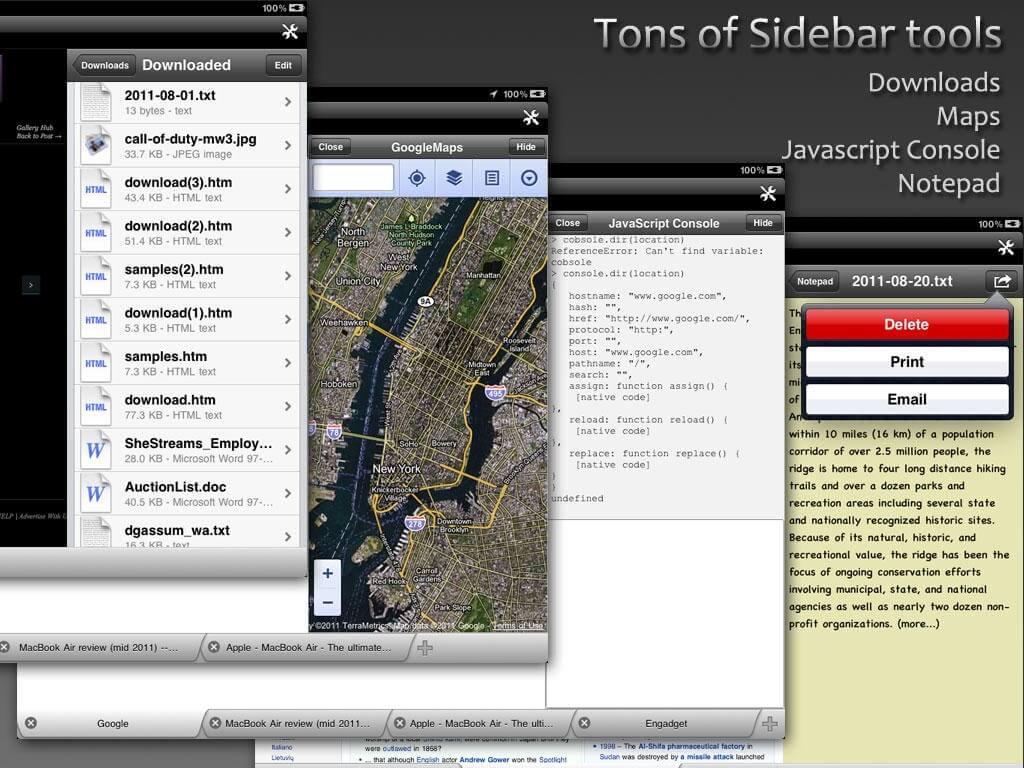 iSideWeb – przeglądarka wielozadaniowa.
