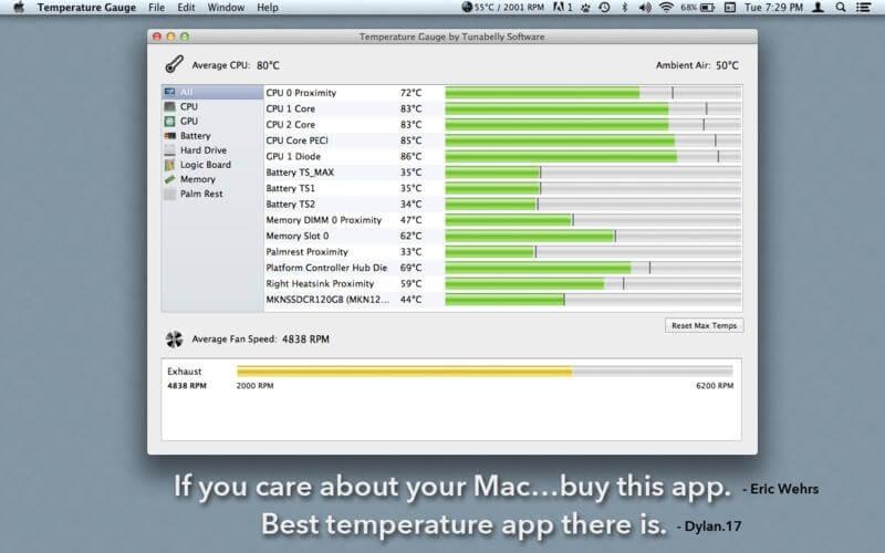 Temperature Gauge Pro – monitoruj, oraz obniżaj temperaturę swojego Mac'a.