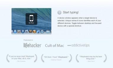 1Keyboard - pisz na sprzęcie z iOS'em z Mac'a.