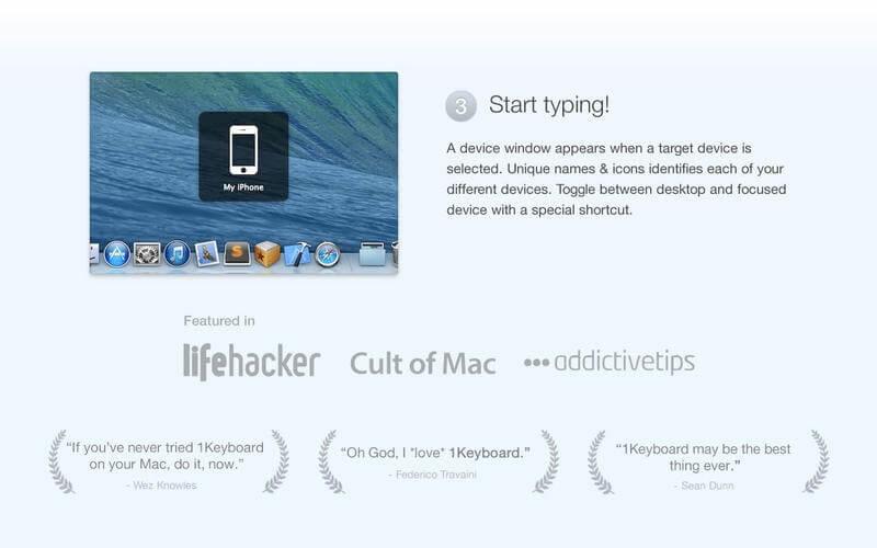 1Keyboard – pisz na sprzęcie z iOS'em z Mac'a.