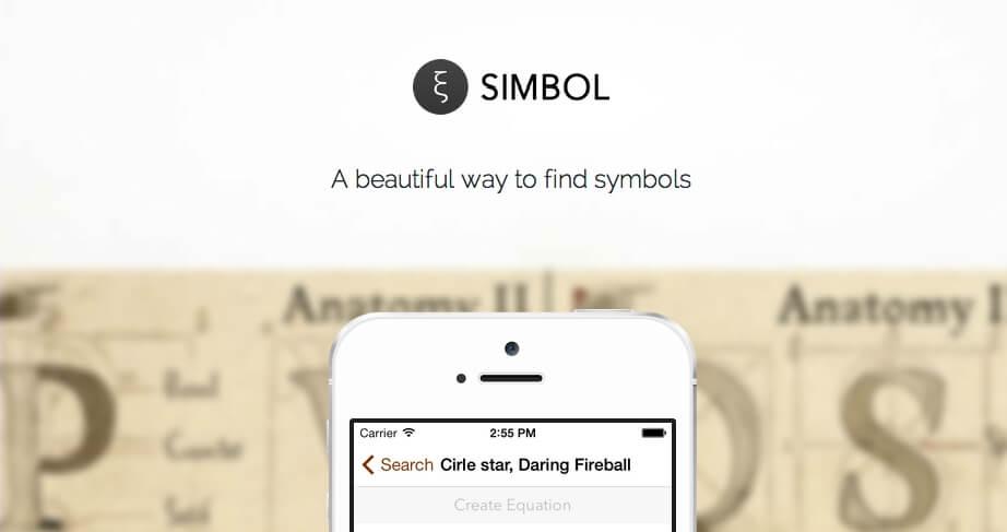 Simbol, czyli dostęp do symboli, które wcześniej były niedostępne w iOS'ie.