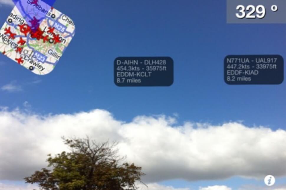 Plane Finder AR – informacje o pobliskich samolotach na naszym iPhone.