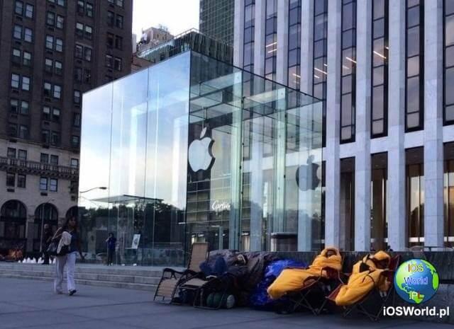 Pierwsi potencjalni klienci już koczują pod Apple Store w Nowym Jorku