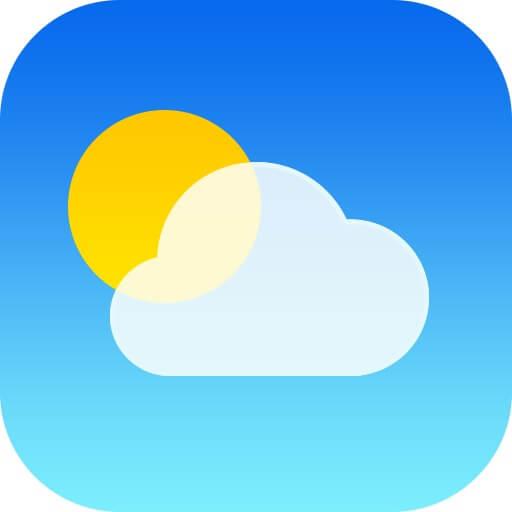 Dzień dobrej wiadomości w systemowej aplikacji Pogoda – w poniedziałek jest niedziela