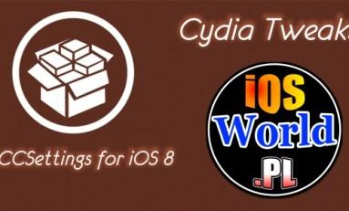 CCSettings for iOS 8 - więcej przełączników
