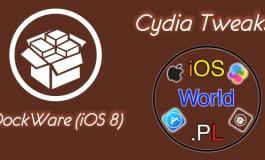 DockWare (iOS 8) - ukryj/wyświetl dock wszędzie