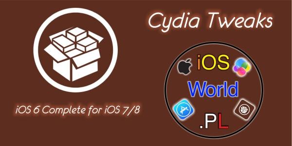 iOS 6 Complete for iOS 7/8 – zmień ikony