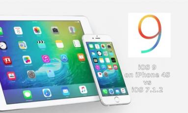 iOS 9 vs iOS 7.1.2 iPhone 4S
