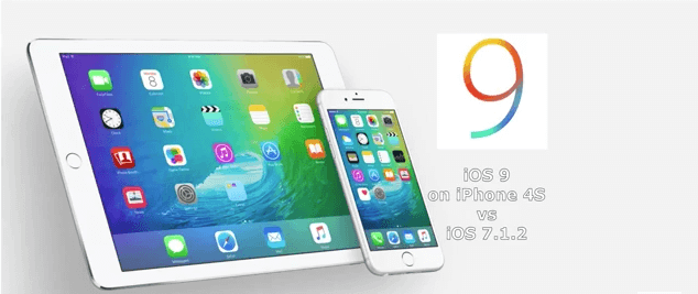 iOS 9 vs iOS 7.1.2 iPhone 4S