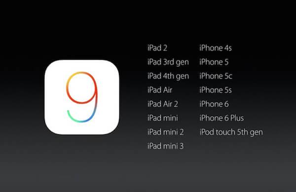 Oficjalna lista urządzeń kwalifikujących się do instalacji iOS 9