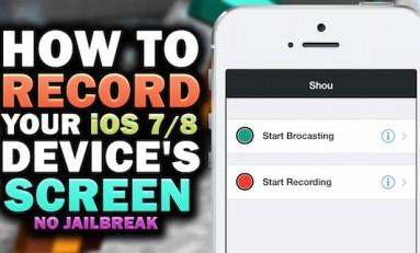 Shou - nagrywanie ekranu na iOS bez Jailbreak'a!