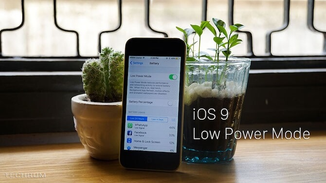 iOS 9 Publiczna Beta – Tryb oszczędzania energii.