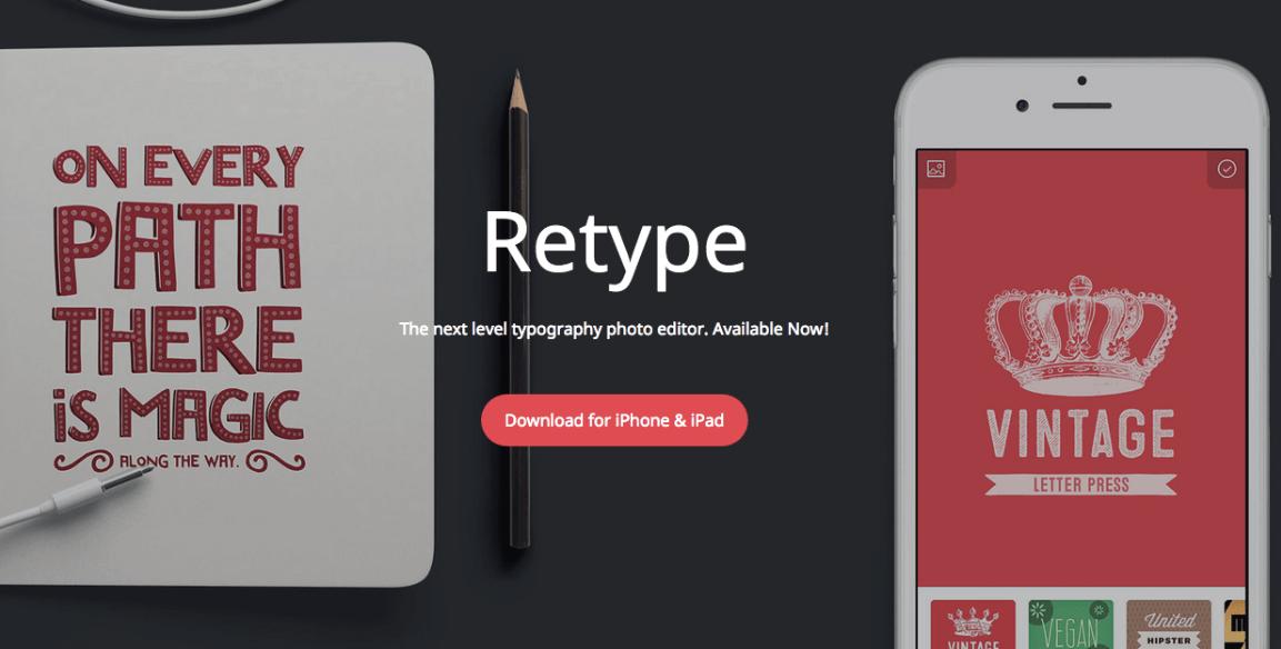 Dodajemy oryginalny podpis do naszego zdjęcia – Retype – Typography Photo Editor.