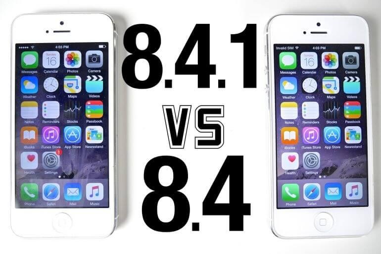 iOS 8.4.1 vs iOS 8.4 – iPhone 4s, iPhone 5