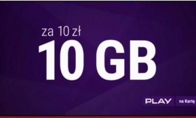Play 10 GB za 10 zl nowa oferta.