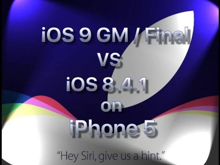 Porównanie szybkości iPhone 4S/5/5S iOS 9 GM vs iOS 8.4.1