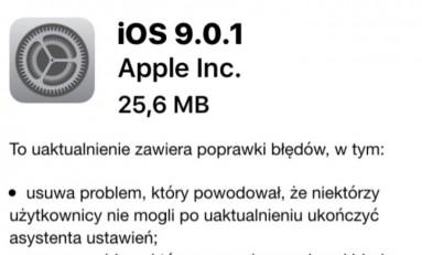 Apple wydało aktualizacje iOS 9.0.1!