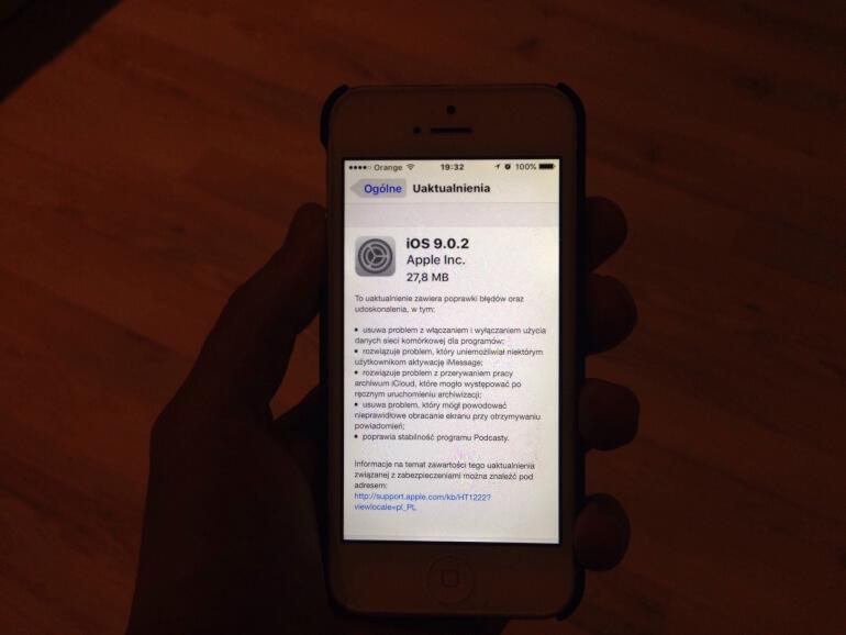 iOS 9.0.2 gotowy do pobrania !