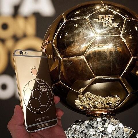 24 karatowy złoty iPhone 6 Neymara, Ronaldo, Falcao i Götze.