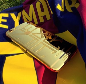 gold iphone 6 Neymar