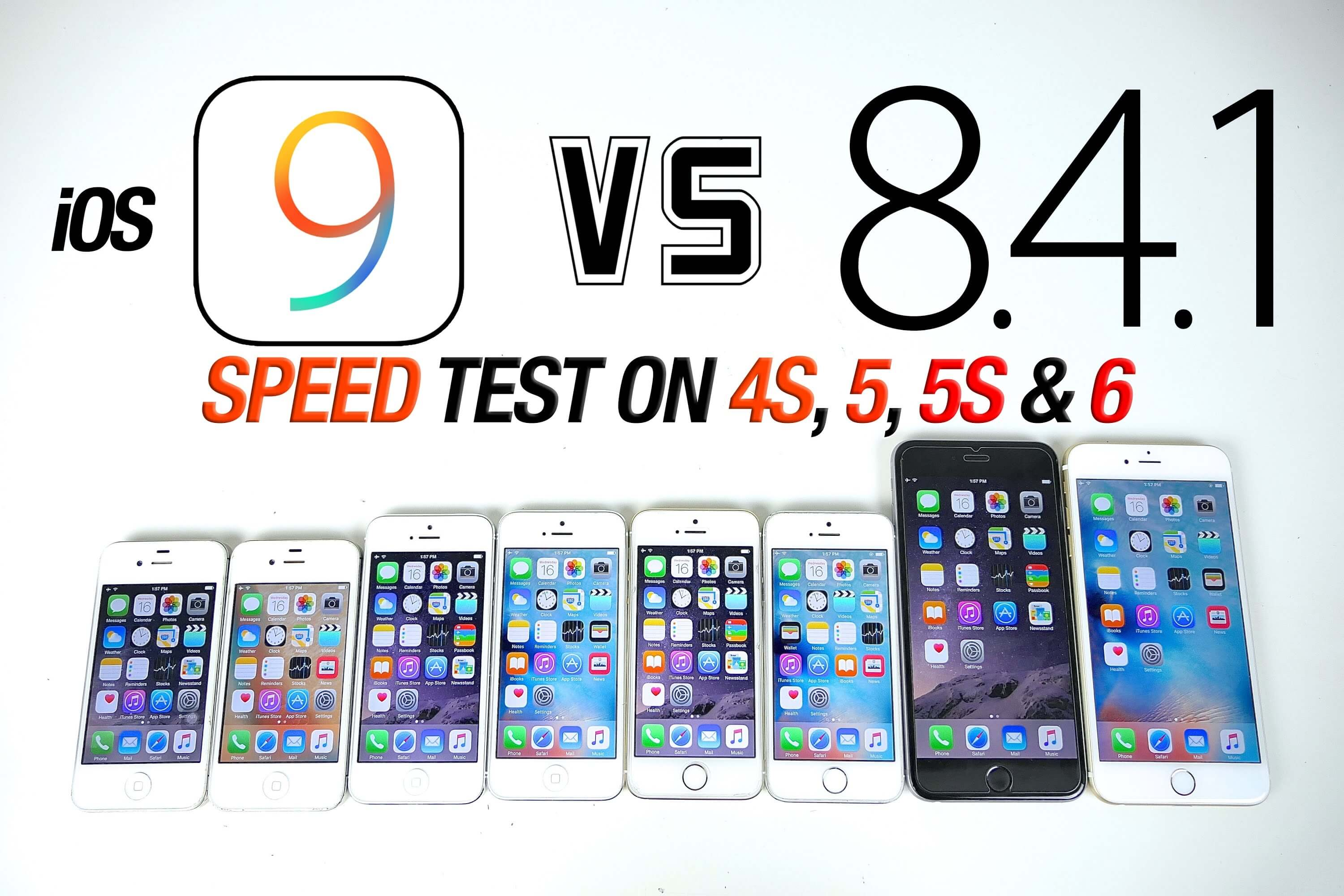 iOS 9 vs iOS 8.4.1 iPhone 4S, 5, 5S i 6 Plus.