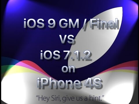 iPhone 4S iOS 9 GM vs iOS 7.1.2.