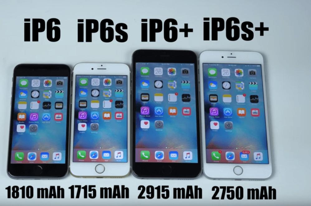 Test baterii! iPhone 6 vs iPhone 6s vs iPhone Plus 6 vs iPhone 6S Plus
