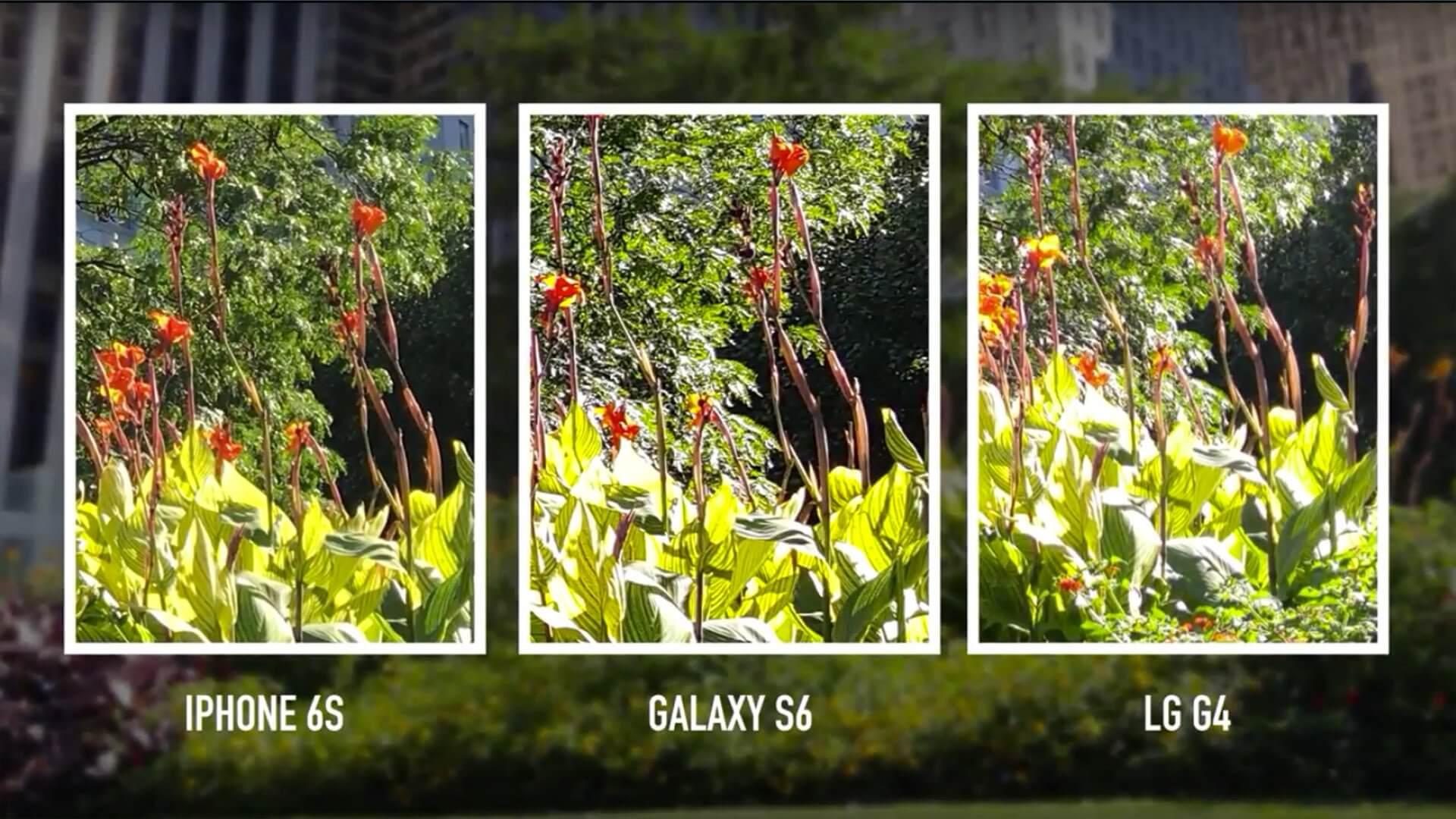 iPhone 6S Plus vs Samsung S6 EDGE + vs LG G4 porównanie zdjęć.