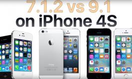 Test szybkości iOS 9.1 vs iOS 7.1.2 iPhone 4S
