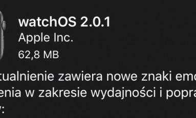 Aktualizacja systemu watchOS 2.0.1
