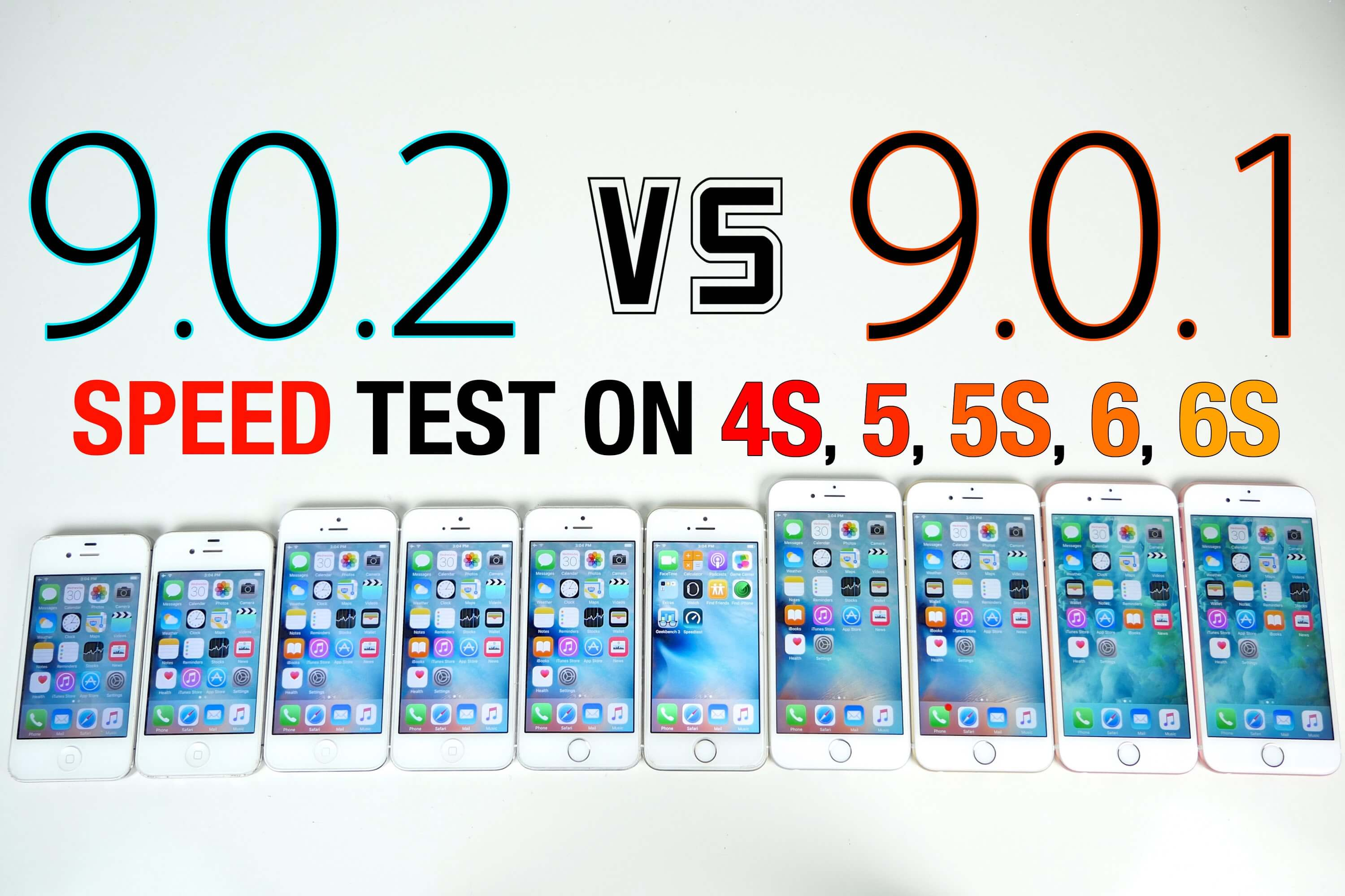 iOS 9.0.2 VS iOS 9.0.1 iPhone 6S, 6, 5S, 5 & 4S