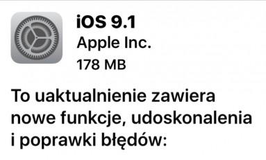 Aktualizacja systemu do wersji iOS 9.1!