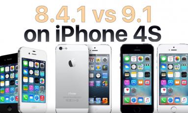 Test szybkości iOS 9.1 vs iOS 8.4.1 iPhone 4S