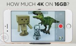 Ile nakręcimy filmu 4k na iPhone 6s 16GB?