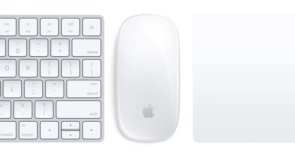 Nowe akcesoria Apple: klawiatura, mysz, gładzik