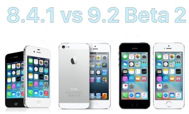 Test iOS 8.4.1 vs 9.2 beta 2 iPhone 5, 5s, 4s