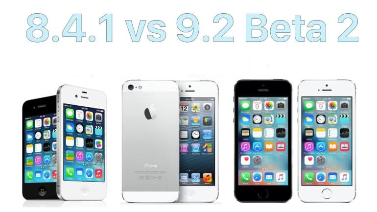 Test iOS 8.4.1 vs 9.2 beta 2 iPhone 5, 5s, 4s