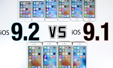 iOS 9.2 vs iOS 9.1 iPhone 6S, 6, 5S, 5 i 4S test szybkości!