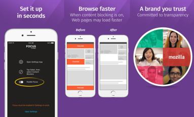 Mozilla z nowym programem Focus do blokowania reklama i nie tylko  na iOS 9.