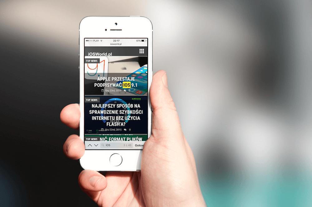 Poradnik – Wyszukiwanie słów na stronie w  przeglądarce na iOS.