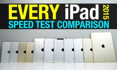 Porównanie prędkości wszystkich iPad'ów