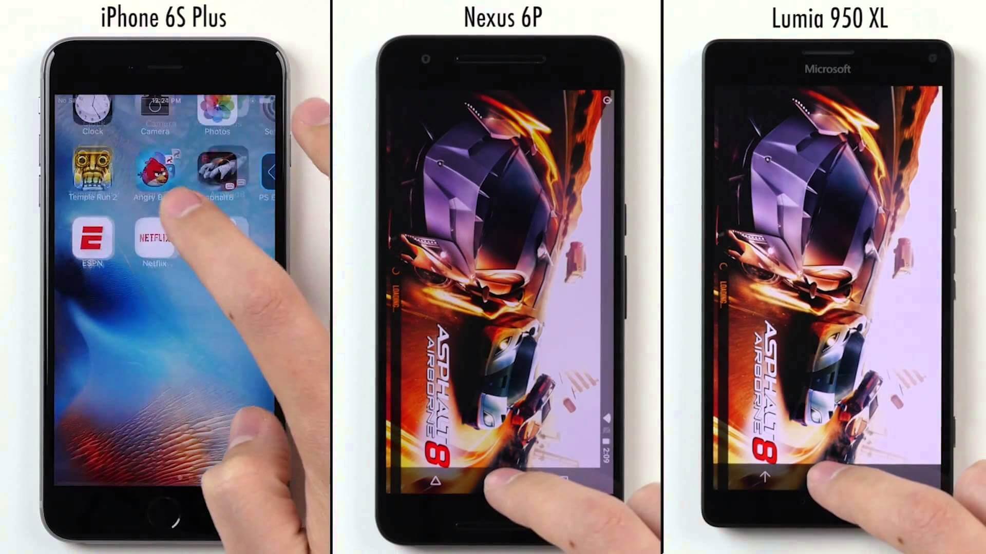 Pojedynek gigantów: iPhone 6S vs Lumia 950 XL vs Nexus 6P