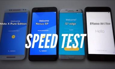 iPhone 6S Plus vs Samsung Galaxy S7 EDGE vs Nexusa 6P vs Moto X Pure