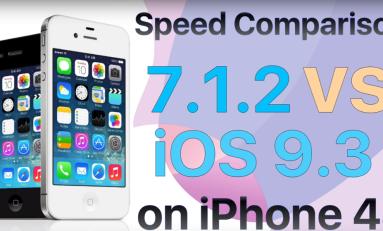 Test szybkości iPhone 4S iOS 7.2.1 vs iOS 9.3