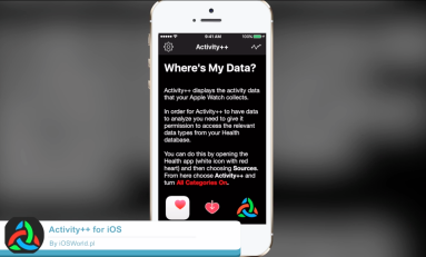 Activity ++ - statystyki z Apple Watch'a wyświetlane na twoim  iPhone w fajnym stylu.