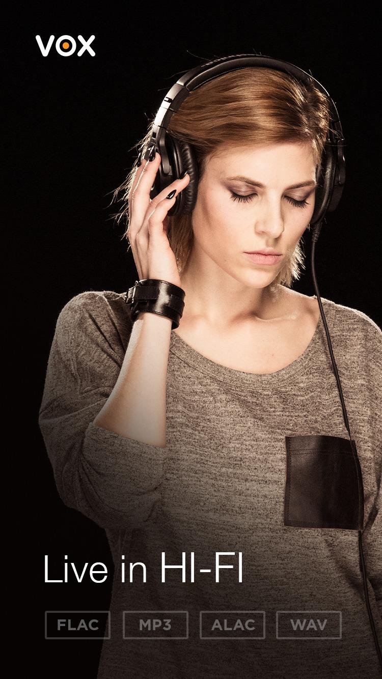 Zamień aplikacje: Spotify, SoundCloud, Last FM na VOX: FLAC Music Player